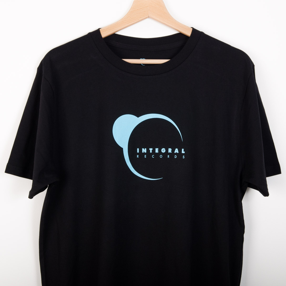 Integral Records Tee - Blue Print on Black
