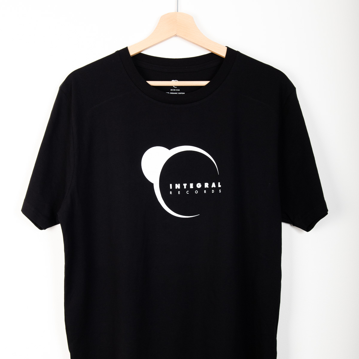 Integral Records Tee - White Print on Black